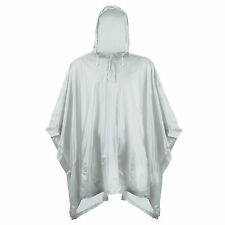 Lightweight Poncho Raincoat Rain Waterproof Festival Camping Hooded Cape Ground