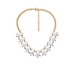 NEW * Urban Anthropologie Faux Pearl Rhinestone Gold Chain Necklace