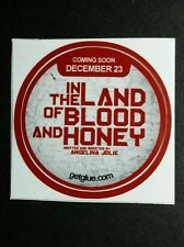 "IN THE LAND OF BLOOD AND HONEY A JOLIE MOVIE SMALL 1.5"" GET GLUE GETGLUE STICKER"