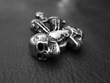 Silver SKULL Engine Pendant Key Chain FREE NECKLACE for Harley 1% ER Biker 66