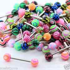 Wholesale 10x PREMIUM Tounge Nipple Ear Rings BARS BARBELL BODY PIERCING JEWELRY