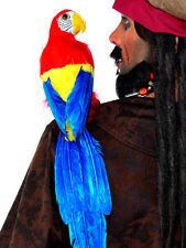 "20"" PIRATE PARROT ON SHOULDER MACAW BIRD SKULLY PIRATE COSTUME PROP ACCESSORY"