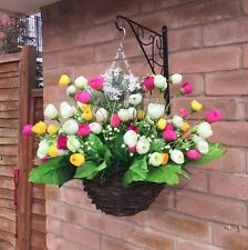 ����New Ready To Hang Artificial Flower  Hanging Basket Gardern