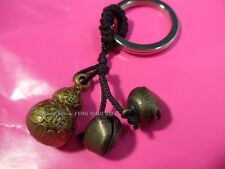 12pcs Chinese Lucky Key chain Ring Long Life Charm Figurine Hulu Gourd Feng Shui