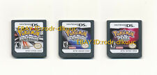 Lot of 3 Nintendo Pokemon Platinum+Diamond+Pearl Version Game Card for NDS DSI