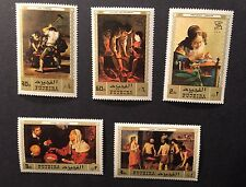 Fujeira 1971 Air Mail Complete Stamp Set of 5 Painting  MINT  MNH Mi# 804 - 808
