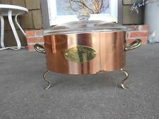 Anchor Hocking FIRE KING 2qt Covered Casserole Dish with Copper Serving Sleeve