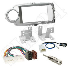 Toyota Yaris ab2011 Doppel 2-DIN Autoradio Blende+ISO Radio Adapter+Antenne Set