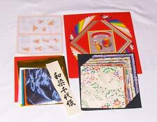 JAPANESE ORIGAMI FOLDING PAPER KIT FANCY CRAFT SHEETS-INSTRUCTION HOW TO PROJECT