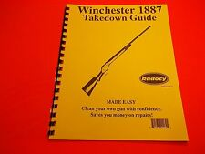 TAKEDOWN MANUAL GUIDE WINCHESTER 1887 LEVER ACTION,  easy to understand guide