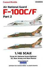Caracal Decals 1/48 F-100C F-100F SUPER SABRE Air National Guard Units Part 2