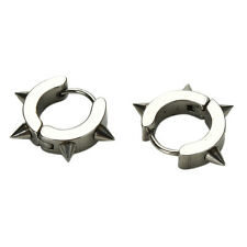 Vogue Titanium Steel Punk Rivet Ear Studs Spike Hoop Huggie Piercing Earring EW