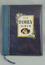 Family Photo Album ~ Victorian Floral Blue ~ Predesigned Pages