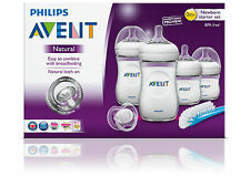 PHILIPS AVENT NATURAL NEWBORN STARTER SET - bottles brush soother gift set