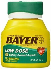 Bayer Aspirin Regimen Low Dose 81mg Enteric Coated Tablets 120 Each