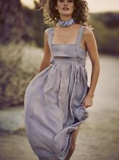 NEW Free People lavender silky shaded Tiered Top Babydoll Swing Maxi Dress L