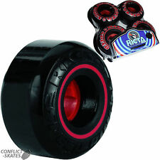 "RICTA ""Speedrings"" Skateboard Wheels 52mm 81b BLACK Street Park Ramp Speed Rings"