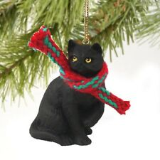 Shorthaired Black Cat Ornament