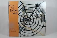 Dept 56 Halloween Tinsel Knit Spider Web With Spider' Great Deco #56.34343 NIB!
