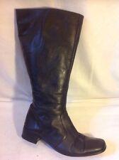 Duo noir hautes bottes en cuir taille 38M