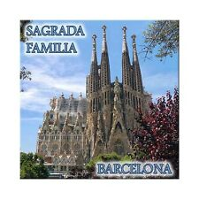 Fridge magnet with view of Sagrada Familia - Barcelona, Spain