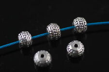 Bulk 20pcs Silver Jewelry Making Metal Beads Spacer Craft Finding 5x7mm Charms