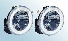Angel Eye Bull Nudge Bar Grille Roof Rail Front Fog Lights Lamps 12V Car SUV 4x4