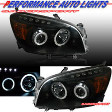 06-08 TOYOTA RAV4 DUAL CCFL HALO PROJECTOR HEADLIGHTS BLACK w/ LED PARKING PAIR