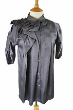 MARNI ARCHITECTURAL PLEATED TUNIC SHIRT TOP, IT40 UK8