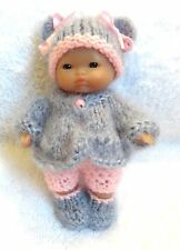 "Hand Knitted Clothes for 5"" Berenguer Doll (#47)"