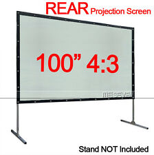"100"" Inch 4:3 PVC Material Wall Mounted Rear Projection Screen for Any Projector"
