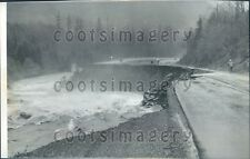 1959 Highway Collapse Snoqualmie Pass North Bend WA Press Photo