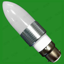 3W LED Ultra Low Energy 6400K Daylight White Candle Light Bulbs, BC B22 Lamps