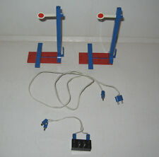 2 SIGNAUX + INTERRUPTEUR LEGO TRAIN 4,5V (Ref. 156) TBE 1969,SIGNAL + EL.SWITCH
