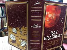 SIGNED RAY BRADBURY  AS NEW IN leatherette- Martian, Illustrated, golden 1st