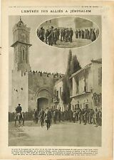 Allied troops Jerusalem Field Marshal Allenby Palestine  Ottoman Empire 1918 WWI