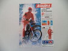 advertising Pubblicità 1987 GIMOTO ACQUARIA e GUGLIELMO ANDREINI e GILERA