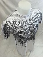 Mens XTREME COUTURE AFFLICTION Indian Skull Shirt White MMA UFC S M L XL 2XL NWT