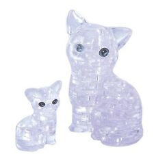 Jeruel 3D Crystal Puzzle DIY Jigsaw Assembly Toy Miniature Gift White Cat Decor