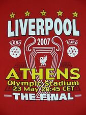 Liverpool Road To Athens The Final 2007 T-Shirt Red Olympic Stadium 2-Sided XXL
