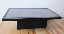 TABLE BASSE BOIS MASSIF AVEC MIROIR TEINTE ANNEES 70 DESIGN 1970 ERA WILLY RIZZO