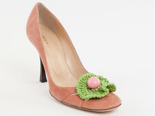 New Vivien Lee Pink Suede Leather Made in Italy Shoes Size 38 US 8