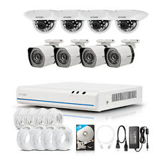 Zmodo 8CH 1080p HDMI NVR 1.0MP CCTV IR-Cut Home Security Camera System 1TB HDD