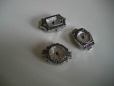 SET OF 3 MARCASITE WATCH FACES FOR BEADING OR OTHER USE