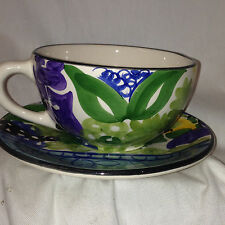 FAVANOL CRATE & BARREL PORTUGAL MARTINIQUE CUP & BREAD & BUTTER PLATE SAUCER