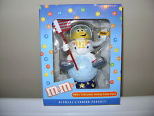 M&M's LIMITED EDITION YELLOW IN SPACE FIGURINE. KURT S. ADLER. ONLY 1200 MADE