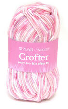 4 Skeins of Sirdar Snuggly Baby Crofter DK Knitting Yarn Color #150 (Pink)