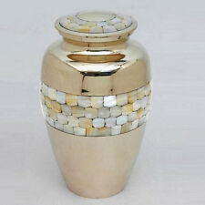 Beautiful Classic Mother of Pearl Urn, Cremation Urn~Brass Urn~Adult Urn, New