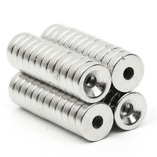 50pcs N52 Strong Countersunk Ring Magnets 10 x 3mm Hole 3mm Rare Earth Neodymium