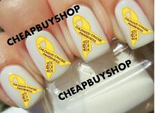 Top Quality《CHILDHOOD CANCER LOGO YELLOW RIBBON》Tattoo Nail Art Decals